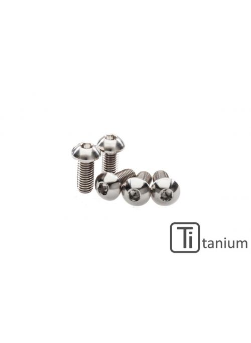 Screws set front brake disc M8x20 (5 pcs) - Titanium