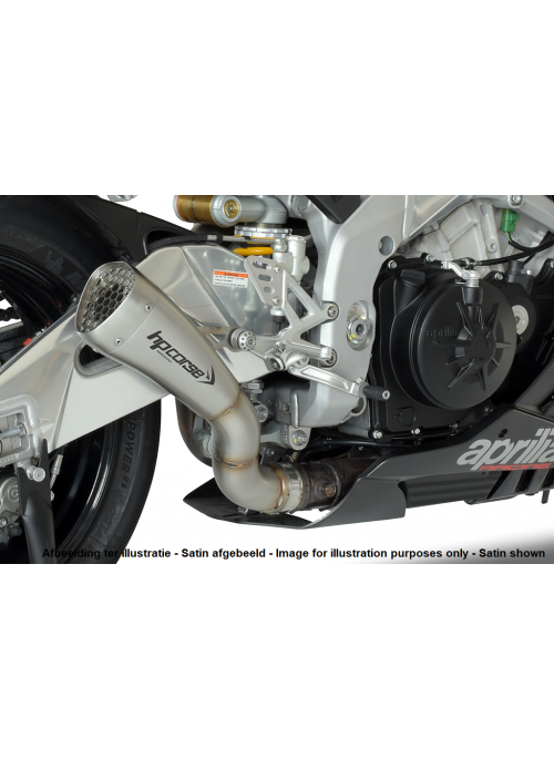 HP Corse Slip-On Exhaust RSV4 2015-2016 Hydroform Corsa Short Black