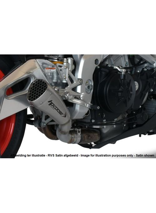 HP Corse Slip-On Exhaust Tuono V4 1100 2015-2016 Hydroform-Corsa Short Black