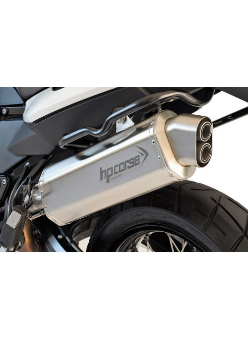 HP Corse Slip-On uitlaat BMW F 800 GS 2008-2017 4-Track Satin