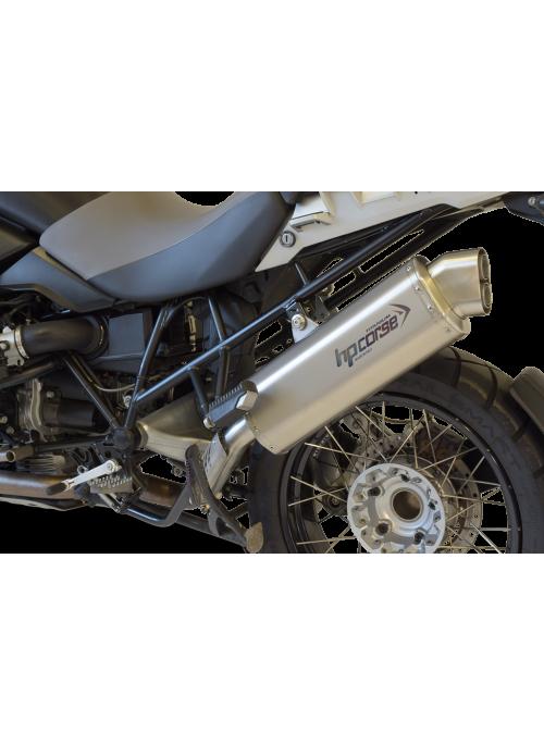 HP Corse Slip-On uitlaat BMW R 1200 GS 2004-2009 4-Track Titanium