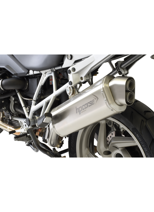 HP Corse Slip-On uitlaat BMW R 1200 GS 2010-2012 4-Track Satin