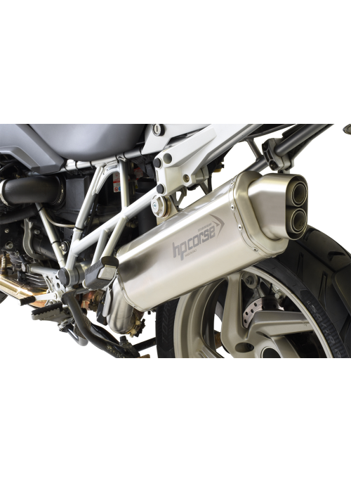 HP Corse Slip-On uitlaat BMW R 1200 GS 2010-2012 4-Track Titanium