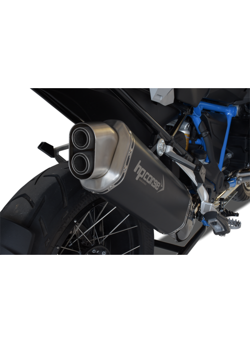 HP Corse Slip-On uitlaat BMW R 1200 GS/Adventure 2013 UP 4-Track Black