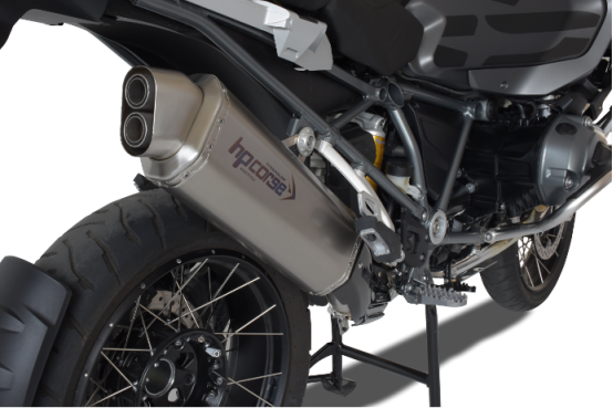 HP Corse Slip-On uitlaat BMW R 1200 GS/Adventure 2013 UP 4-Track Titanium