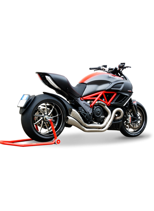 HP Corse Slip-On uitlaat Ducati Diavel 2011-2016 Hydroform Satin