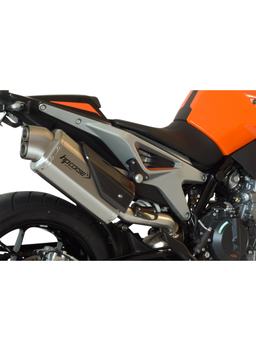 HP Corse Slip-On uitlaat KTM Duke 790 4-Track Short Satin