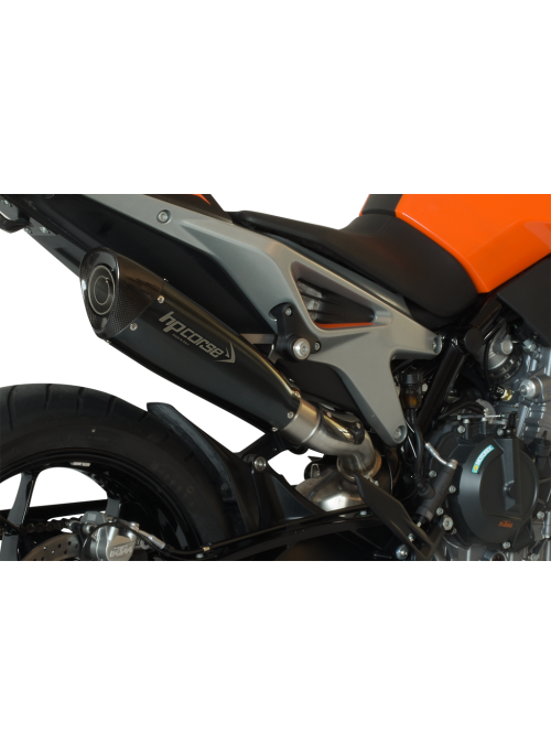 HP Corse Slip-On uitlaat KTM Duke 790 EvoXtreme 310mm Black