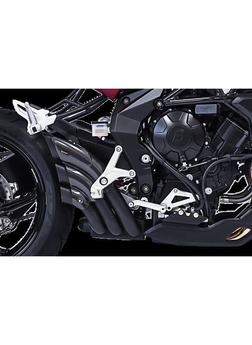 HP Corse Slip-On uitlaat MV Agusta Brutale 675/800/RR tot modeljaar 2016 HydroTre Black Cover Carbon