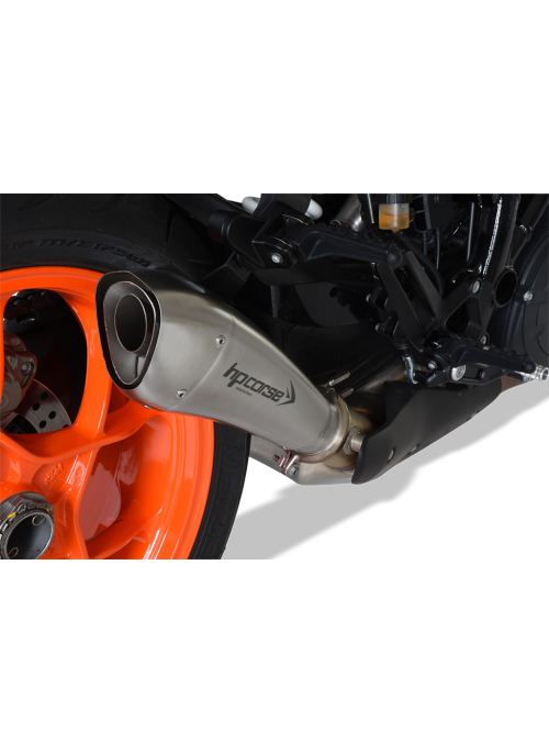 HP Corse Slip-On uitlaat KTM SuperDuke 1290 R 2017+ Hydroform Satin