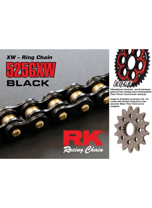 SuperSprox Black Out Chain Kit Ducati 1198 1198S