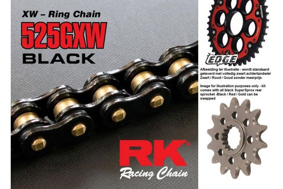 SuperSprox Black Out Chain Kit Ducati Panigale 1299 1299S