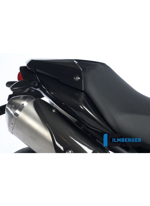 Side panel under seat - right side - carbon