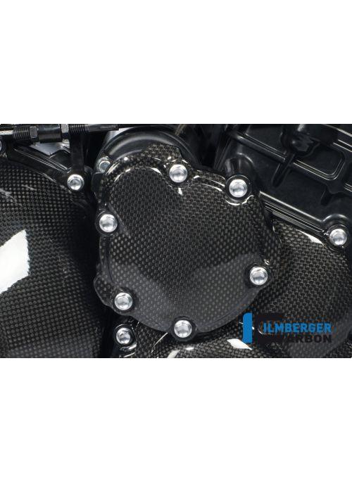 Motorblokdeksel boven - startmotorcover carbon