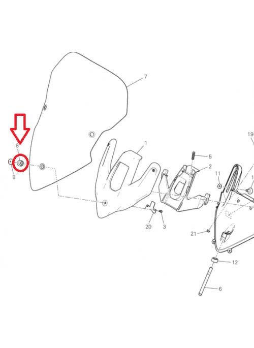 Windshield Rubber Grommet Multistrada Diavel Hyperstrada SuperSport