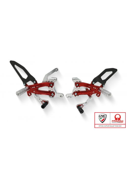 Adjustable rearsets with carbon Ducati Streetfighter V4 - Pramac Racing Limited Edition