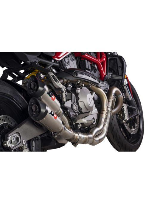 QD uitlaat Twin Gunshot Ducati Monster 1200 2018-2020 Euro4