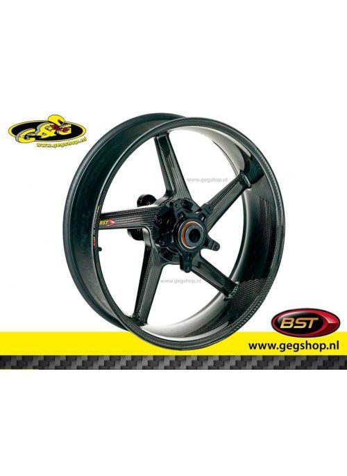 "BST Carbon Rear Rim Black Diamond 5,75 x 17"" Aprilia Tuono Factory with radial brake calipers 2004 t/m 2005"