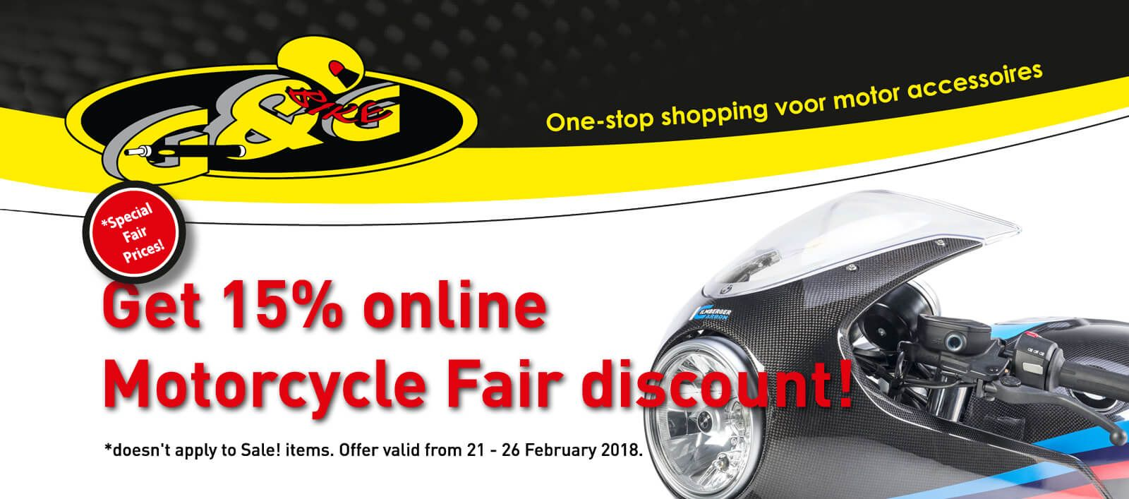15% discount on all Ilmberger CarbonParts during Motorbeurs Utrecht motorcycle fair