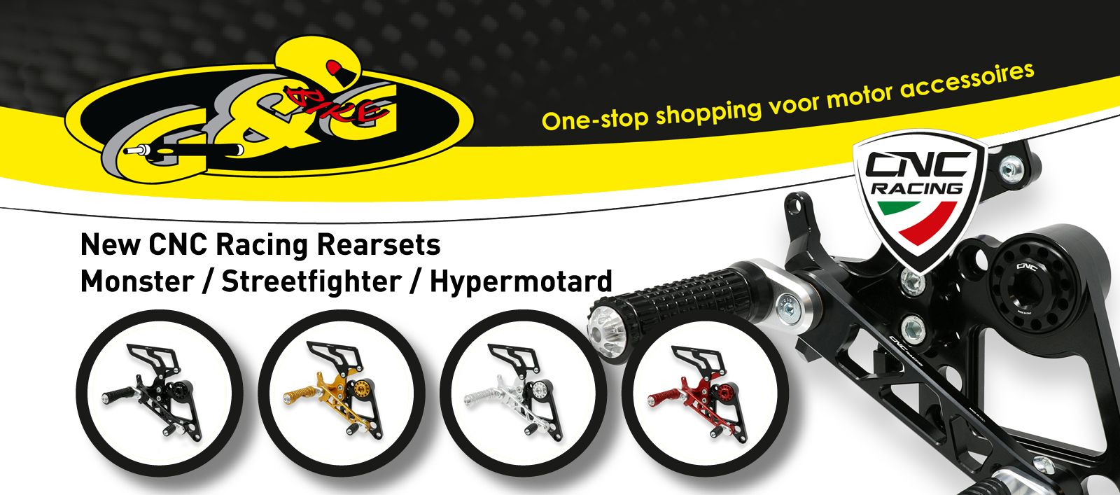 CNC Racing Rearsets Monster Hypermotard Streetfighter
