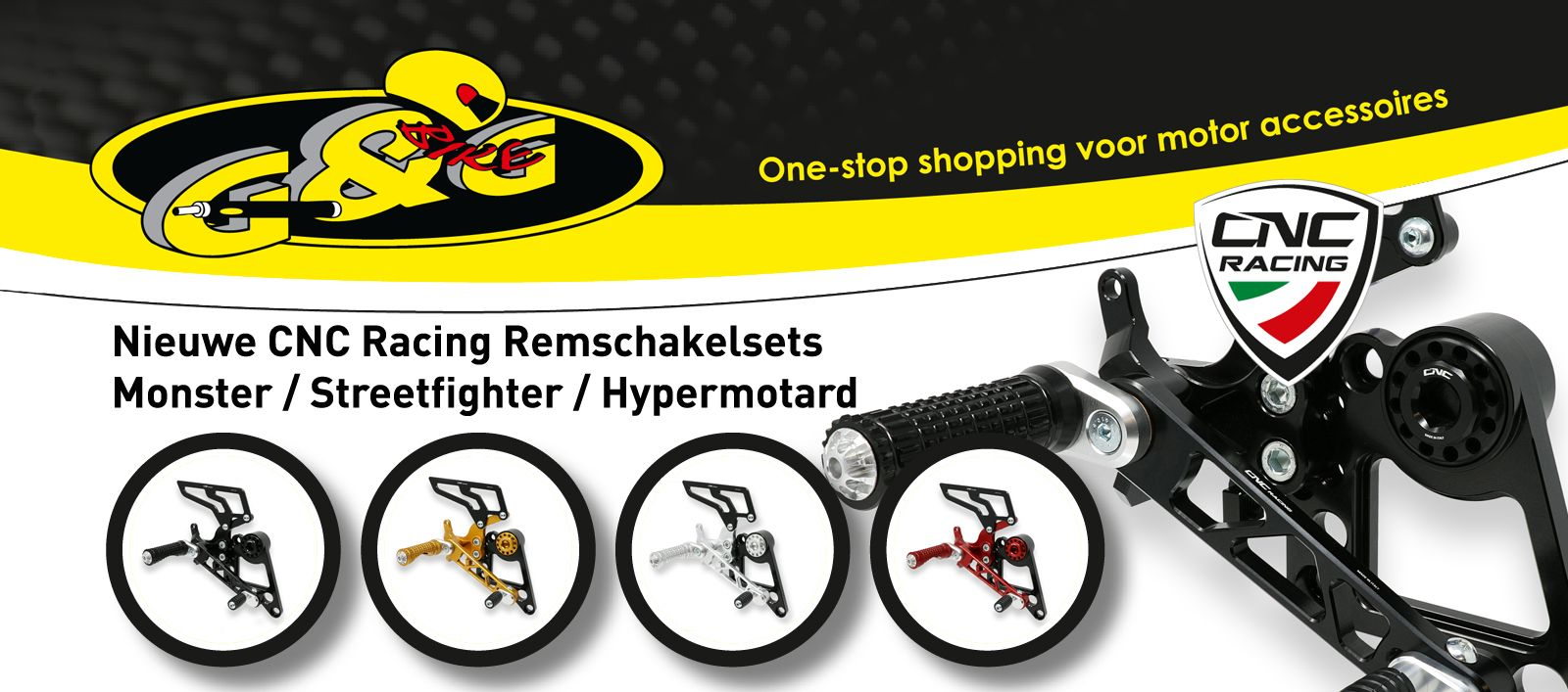CNC Racing remschakelsets Monster Hypermotard Streetfighter